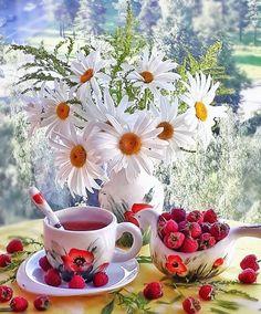 Morning Rose, Good Morning Flowers, Gd Morning, Beautiful Landscapes, Beautiful Gardens, Flower Vases, Flower Art, Good Morning Beautiful Pictures, Montreal Botanical Garden