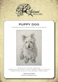 Blackwork Design: Puppy Dog | Ajisai Press