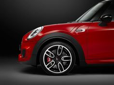 MINI reveals new race track-oriented john cooper works model. side view detail. another standard feature of the new MINI john cooper works is the high-performance sports brake system developed in collaboration with brembo – the fixed caliper disc brakes have been designed to guarantee a consistently high deceleration performance even when exposed to intensive stress on the race track. forged 17-inch race spoke alloy wheels were also created exclusively for the JCW model.