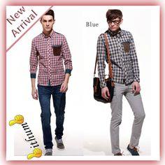 http://i01.i.aliimg.com/wsphoto/v0/880054315_1/2013-New-Fashion-Long-Sleeve-Beige-Red-Men-s-Plaid-Shirt-Patchwork-Leather-Pocket-Design-Drop.jpg