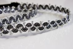 romantic silver & dark grey headband http://de.dawanda.com/product/86419543-verspieltes-silber-graues-haarband