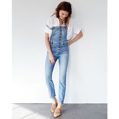 Women's Denim : Skinny, Straight, & Slim Jeans | Madewell Skinny Overalls, Denim Overalls, Curvy Jeans, Slim Jeans, Get Dressed, Blue Denim, Clothes For Women, My Style, Armadillo