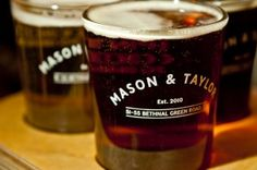 Taster glasses. 1/3 of a pint - perfect if you're not sure what real ale you're after!