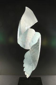Naoko Taganuchi - Flight Series  Handblown and sandblasted glass