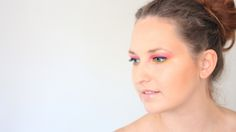 Makeup tutorial summer look, yellow and pink colour