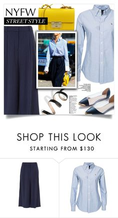"""""""NYFW Street Style: Day Two"""" by dolly-valkyrie ❤ liked on Polyvore featuring TIBI, Polo Ralph Lauren, Salvatore Ferragamo, StreetStyle and NYFW"""