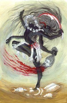 Saraswati Goddess, Kali Goddess, Indian Goddess, Goddess Art, Kali Tattoo, Kali Shiva, Kali Mata, Mother Kali, Divine Mother