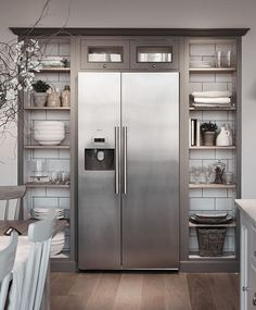 Bosch, Neff and Siemens You are in the right place about farmhouse dining area Here we offer you the Dining Cabinet, Kitchen Cabinet Design, Rustic Kitchen, New Kitchen, Open Plan Kitchen Dining Living, Dining Area Design, Condo Kitchen Remodel, Classic Cabinets, Home Library Design