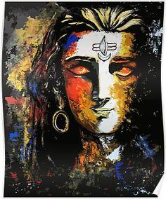 Art Discover Shiva Canvas Print by Apurva Suvarna Arte Shiva, Arte Krishna, Shiva Art, Hindu Art, Mahakal Shiva, Shiva Yoga, Lord Shiva Statue, Lord Shiva Pics, Lord Shiva Hd Images