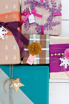 Creative ways to wrap gifts using your craft supplies