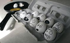 lol im gonna do this to the eggs so ill laugh every morning