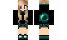 minecraft skin Edited-Ender-Girl