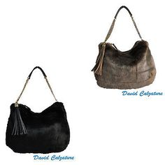 Borsa da donna borsetta con a tracolla nera sacchetto marrone borse catena  oro e741290dd5a