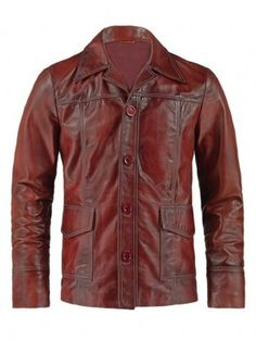 Mens Antiqued Finished Leather Jacket