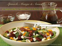 ... amp avocado salad w applewood bacon toasted pecans amp balsamic