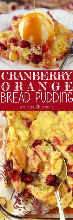 This Cranberry Orange Bread Pudding is knock your socks off amazing! The kind of… This Cranberry Orange Bread Pudding is knock your socks off amazing! The kind of dessert that you secretly eat right from the pan when no one else is looking! Kinds Of Desserts, Köstliche Desserts, Delicious Desserts, Dessert Recipes, Southern Desserts, Pudding Desserts, Cranberry Orange Bread, Cranberry Recipes, Cranberry Dessert