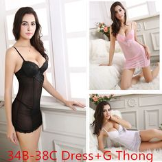 Cheap Exotic Apparel, Buy Directly from China Suppliers:Plus Size Sexy Women Babydoll Transparent Dress Erotic Sexiest Europe Lingerie Baby Doll Female G Thong Set Pajam
