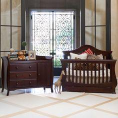 Baby Cache Monaco Lifetime Convertible Crib Espresso