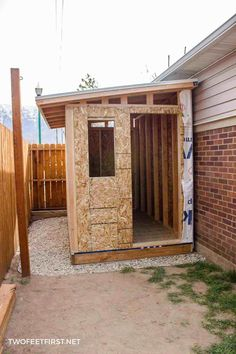 Are you wondering how to build a lean-to roof for a shed? Here is how you can DIY one plus the whole process of building a shed. Are you wondering how to build a lean-to shed roof? Here is how you can build one plus the whole process of building a shed. Backyard Sheds, Outdoor Sheds, Lean To Roof, Diy Storage Shed, Backyard Storage, Outdoor Storage, Shed Construction, Build Your Own Shed, Wood Shed