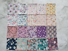20 Sheets Mini Sample Size Floral Printed Faux Leather For Earring Project, Scrapbooking, Any Small Pu Fabric, Bow Template, Leather Sheets, Glitter Fabric, Surprise Gifts, How To Make Bows, Leather Material, Free Gifts, Print Patterns