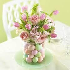 pastel Easter wedding centrepiece