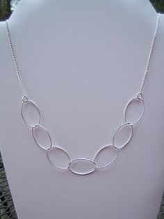 Large Loop Necklace on Sterling Chain by kzoretic on Etsy, $39.00