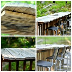 Cool Rustic Outdoor Bar Area! DIY. We need to do this to the deck!!!