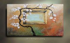 ORIGINAL Flower Abstract Painting Art Landscape by tjenkinsarts, $265.00