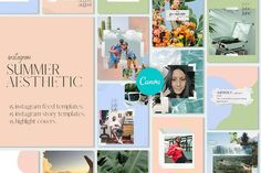 Summer Aesthetic | Canva Templates #socialmediaplanner #socialmediaprintable #weeklysocialmediaplanner #monthlysocialmediaplanner #instagramplanner #socialmediapostsplanner