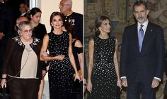 Queen Letizia looked glamourous in a sequinned dress