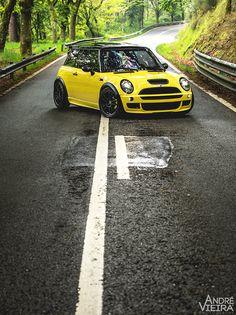 Mini Cooper yellow