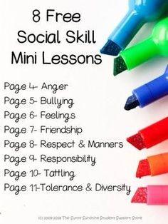 Social Skills Lessons, Social Skills Activities, Teaching Social Skills, Counseling Activities, Social Emotional Learning, Therapy Activities, Learning Skills, Group Counseling, Social Skills For Children