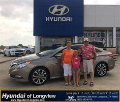 "https://flic.kr/p/tR9rhm | #HappyAnniversary to Eddie and Karla  Dugger on your 2014 #Hyundai #Sonata from Danny Belew at Hyundai of Longview! | <a href=""http://www.hyundaioflongview.com/?utm_source=Flickr&utm_medium=DMaxxPhoto&utm_campaign=DeliveryMaxx"" rel=""nofollow"">www.hyundaioflongview.com/?utm_source=Flickr&utm_medi...</a>"