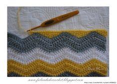 Borde liso cuando tejer crochet zigzag. | Gaby2723