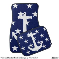 Stars and Anchor Nautical Design Car Mat