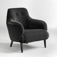 "Anderes Bild Sessel ""Lipstick"", Samt, gesteppte Rücklehne La Redoute Interieurs"