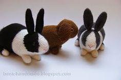 Znalezione obrazy dla zapytania królik amigurumi
