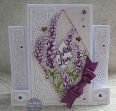 """Hello everyone, DT samples for Tattered Lace """"Raspberry Roses Collection"""" Launching on Create and Craft TV. Create And Craft Tv, Stepper Cards, Tattered Lace Cards, Floral Garland, Fun Fold Cards, Easel Cards, Flower Bouquet Wedding, Bridal Bouquets, Diamond Flower"""
