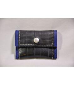 Stef Fauser Geldinger Leder Blau 10 x 7cm Portemonnaie Geldbeutel Etui   - 2-flowerpower