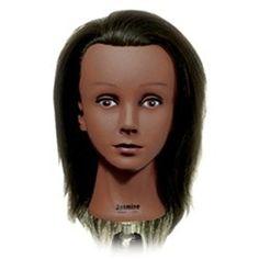 Jasmine Ethnic Cosmetology Mannequin Head 100% Human Hair by Celebrity Manikin
