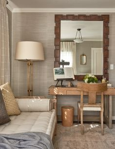Klismos Chair at Desk  Traditional Home Magazine Napa Showcase House Design by Erinn V Design Group  Neiman Desk by Erinn V  Bedroom  Design Detail  Home Office  American  Colonial  Cottage  Eclectic  Farmhouse  Federal  TraditionalNeoclassical  Transitional by Erinn V