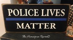 Police lives matter thin blue line law by thehomespunraven on Etsy