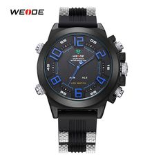 WEIDE Watches Men Luxury Brand Famous LOGO Military Analog Digital Date Week Alarm Display Sports Watch Relogio Masculino #Affiliate