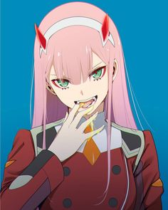 Zero Two (Darling in the FranXX) Image - Zerochan Anime Image Board Girls Anime, Kawaii Anime Girl, Anime Art Girl, Beautiful Anime Girl, I Love Anime, Manga Anime, Waifu Material, Zero Two, Ecchi