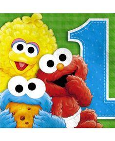 36 Fun To Collect Sesame Street 1st Beverage Napkins