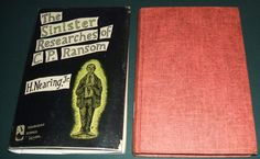 The Sinister Researches of C.P. Ransom by H.Nearing,Jr 1954 1st edition in DJ