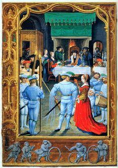 Miniatuur in een Vlaamse kalender, Gents-Brugse school, begin 16e eeuw.  Интересное и забытое - быт и курьезы прошлых эпох.