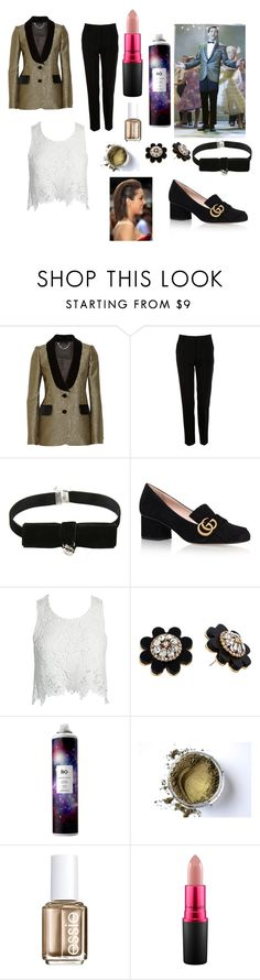 """Corny Collins inspired gender swap"" by mrslexluthorloki ❤ liked on Polyvore featuring Marc Jacobs, Dolce&Gabbana, Gucci, Sans Souci, Kate Spade, R+Co, Essie and MAC Cosmetics"
