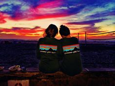 "Sunsets with your little. TSM. These shirts though! ""founded upon a rock"" Gamma Phi <3"