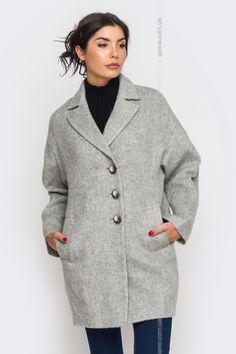 Пальто женское. Верхняя одежда. Цвет: серый. #3101877